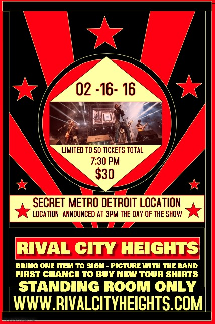 Rival City Heights Secret show February 16 2016